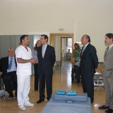 Visita del Consejero de Asuntos Sociales a ASPAYM Madrid