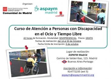 Curso Atención a Personas con Discapacidad en el Ocio y Tiempo Libre