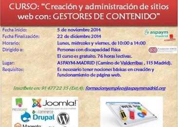 Curso de Creación y Administración de sitios web con: Gestores de Contenidos