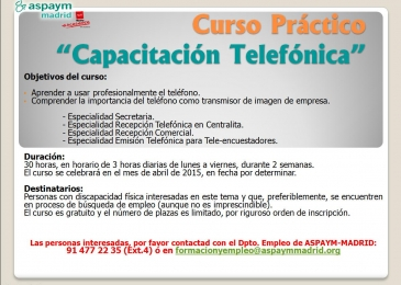 Curso de Capacitación Telefónica