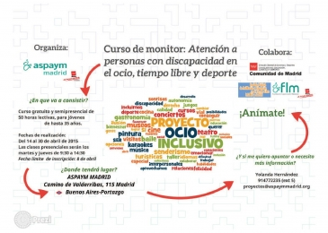 Curso: Monitor para personas con discapacidad en el ocio, tiempo libre y deporte