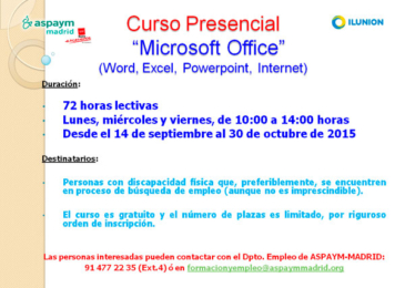 Curso presencial: Microsoft Office