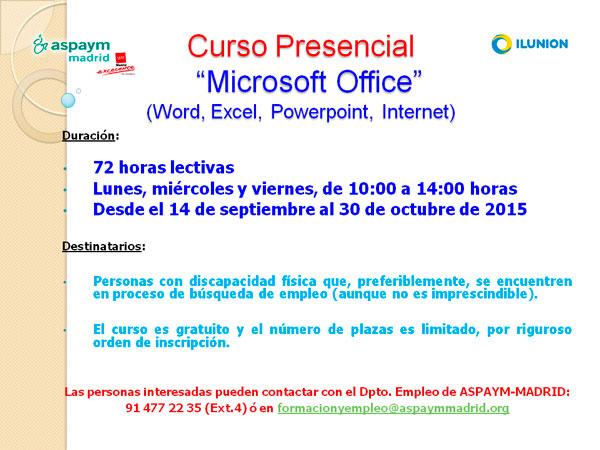 Cartel curso Microsoft Office