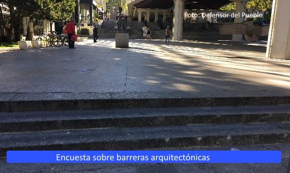 Encuesta Defensor del Pueblo sobre barreras arquitectónicas
