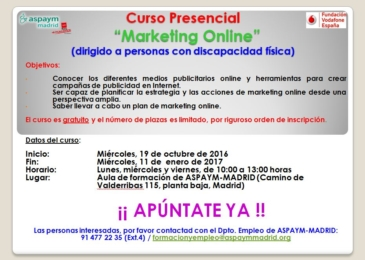 Curso presencial: Marketing Online