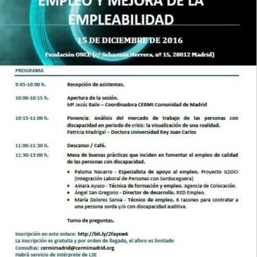 Sesión formativa de sensibilización sobre Empleo y Mejora de la Empleabilidad