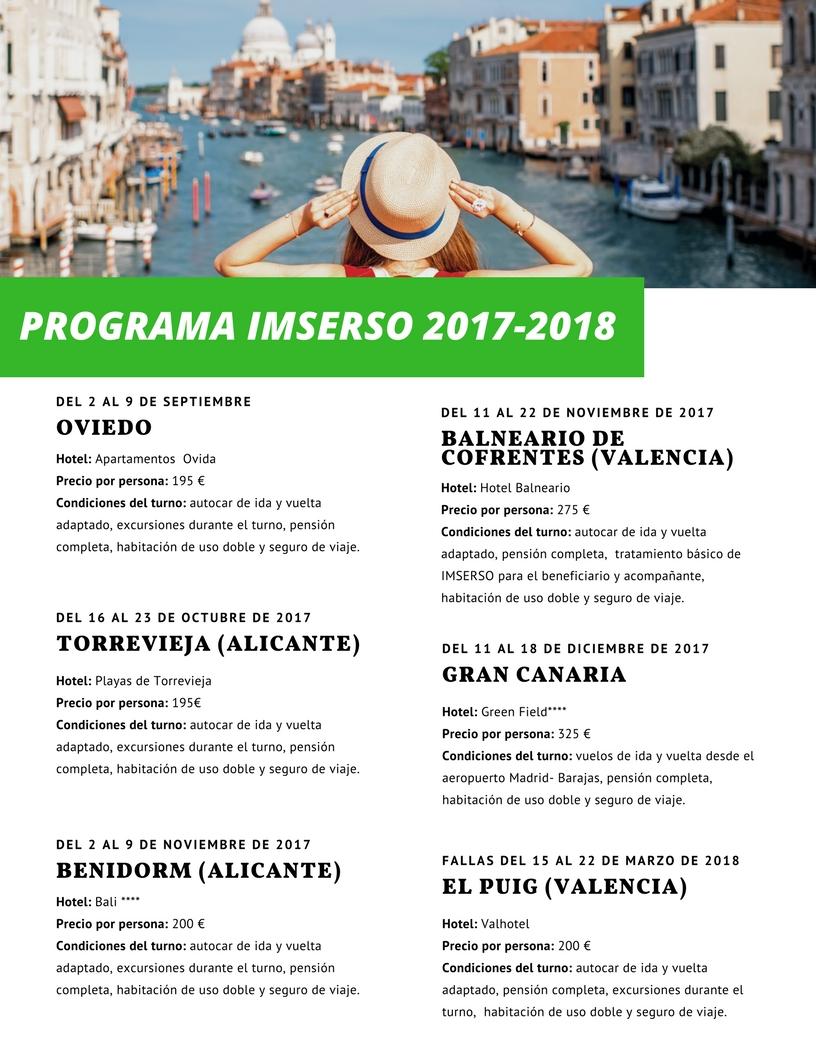 Programa de vacaciones Predif 2017 – 2018
