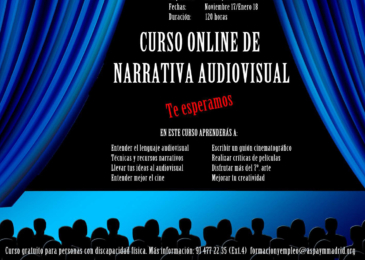Curso online de narrativa audiovisual
