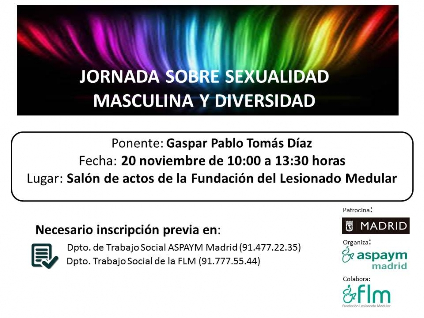 Jornada sexualidad masculina y diversidad