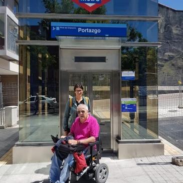 Tras la solicitud de ASPAYM Madrid y Fundación del Lesionado Medular, la estación de Portazgo ya es accesible