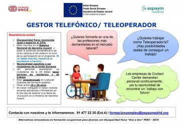 Curso gratuito Gestor telefónico / Teleoperador