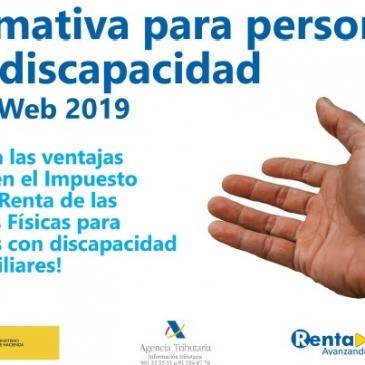 Normativa para personas con discapacidad. Renta Web 2019