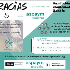 Acciones formativas para la empleabilidad de personas con discapacidad.