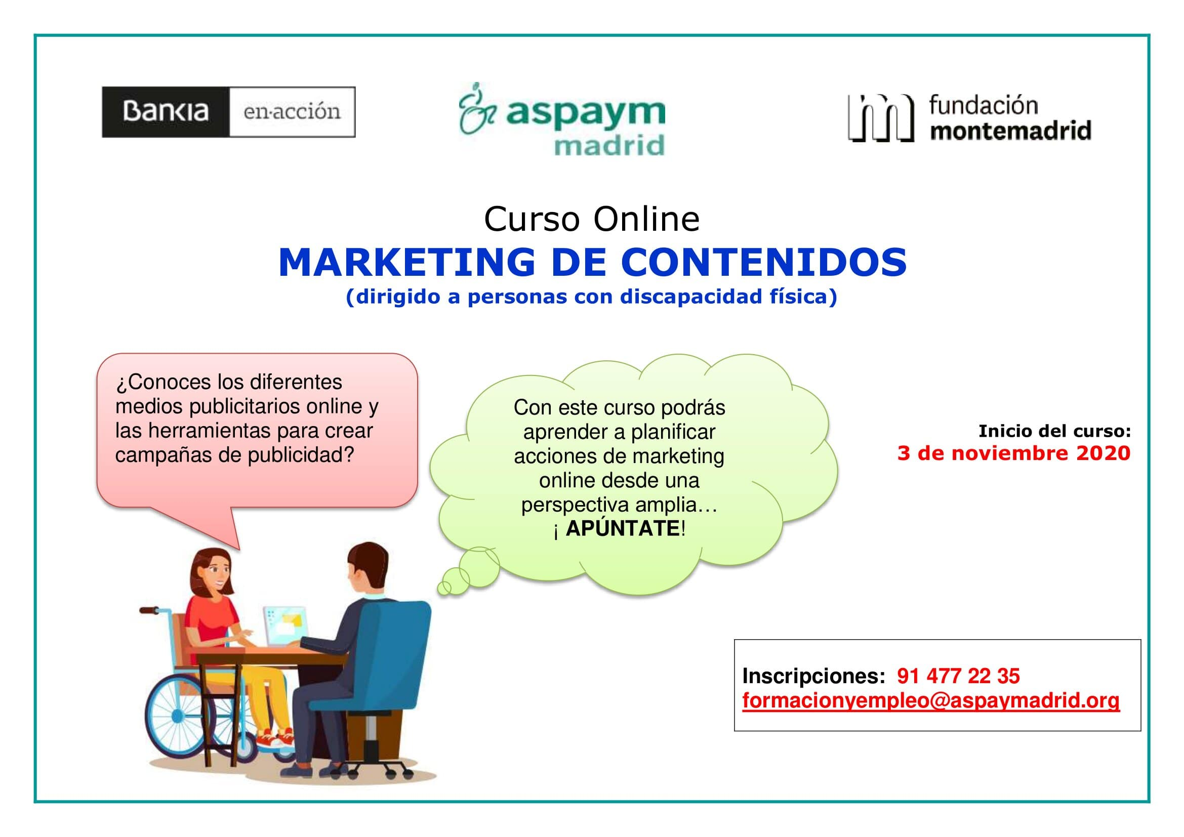 Curso online Marketing de contenidos