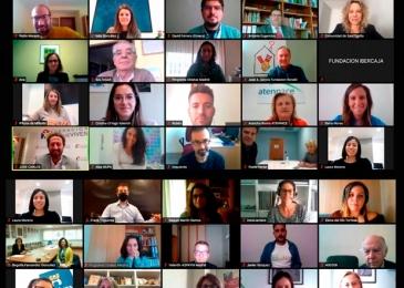 Firma de los convenios sociales Fundación Ibercaja con las asociaciones seleccionadas en Madrid