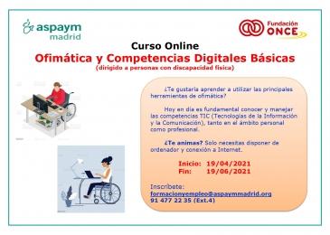 Curso on line gratuito: Ofimática y competencias digitales básicas